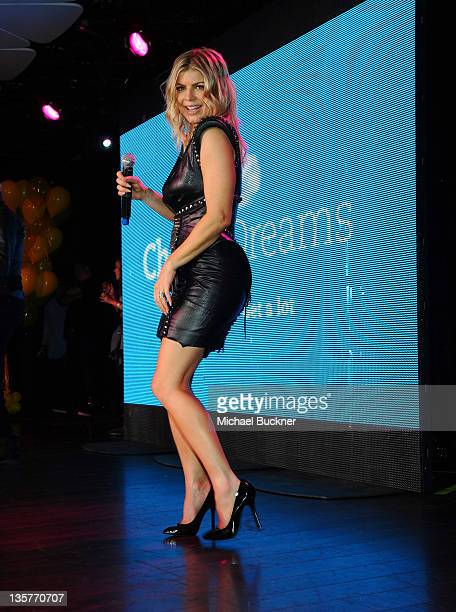 Fergie of the Black Eyed Peas performs at APLDeAp's Birthday Celebration and Launch of Charity Dreams at The Conga Room at LA Live on December 13...