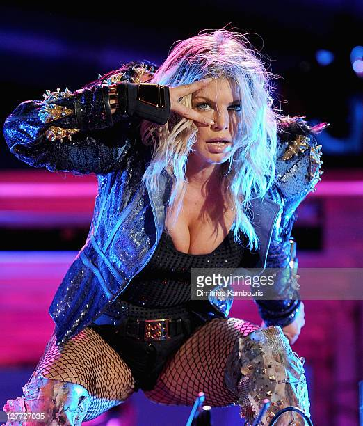 Fergie of the Black Eyed Peas performs onstage during CHASE Presents The Black Eyed Peas and Friends 'Concert 4 NYC' benefiting the Robin Hood...