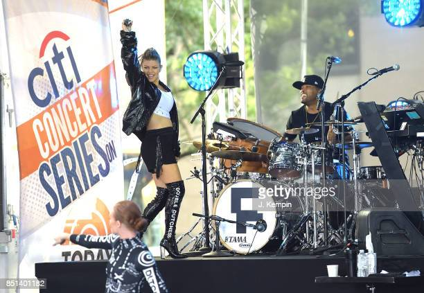 Fergie performs on NBC's 'Today' show at Rockefeller Plaza on September 22 2017 in New York City
