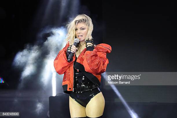 Fergie performs on stage during New York City Pride 2016 Dance On The Pier at Pier 26 on June 26 2016 in New York City