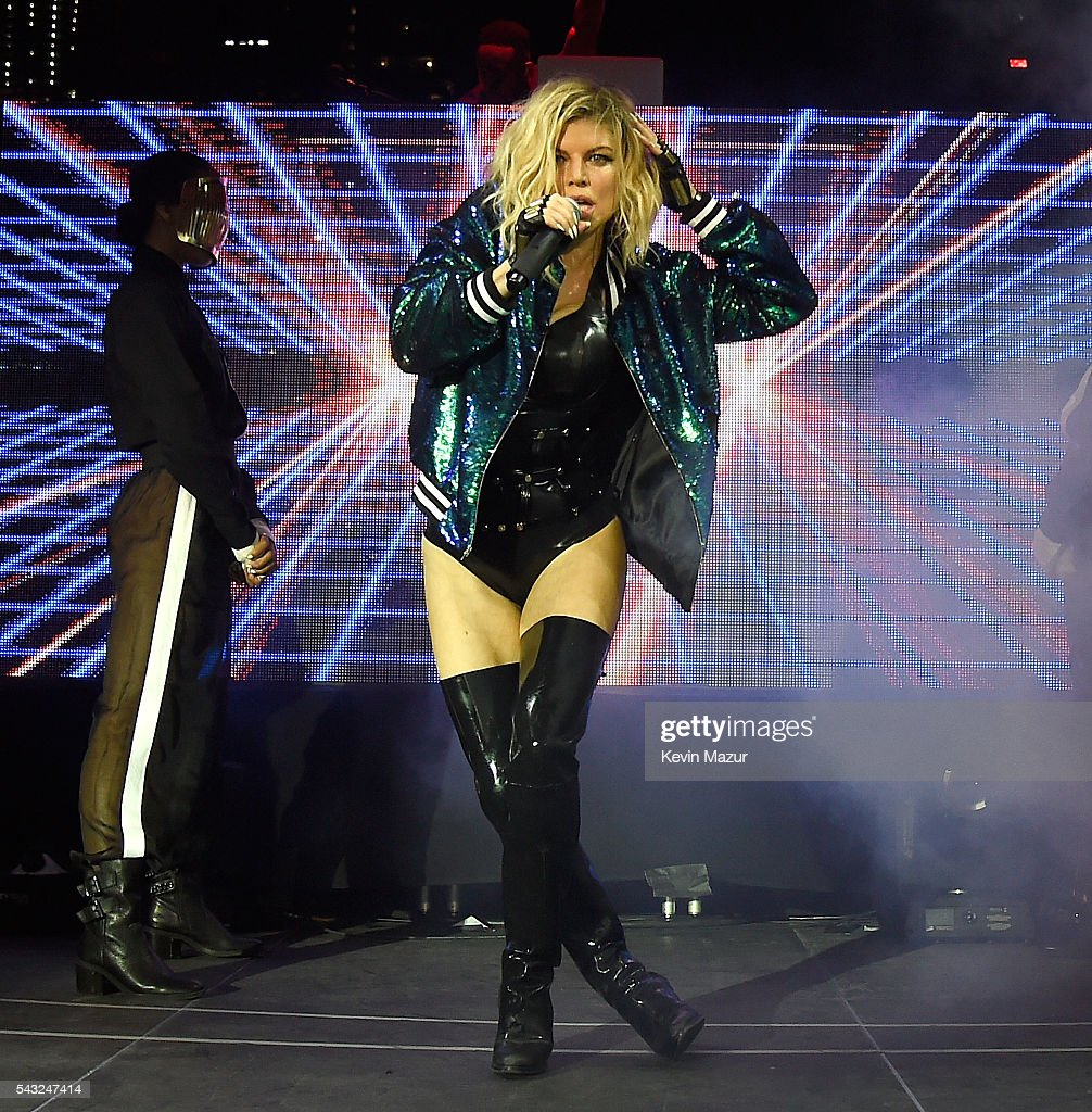 Fergie performs on stage during New York City Pride 2016 - Dance On The Pier at Pier 26 on June 26, 2016 in New York City.