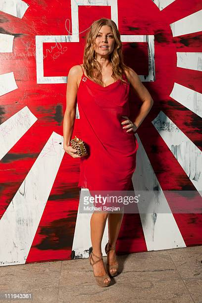 Fergie poses for Vitalah The Creators of Oxylent And The PhotoFund Portrait Studio At The American Red Cross 'Red Tie Affair' at Fairmont Miramar...