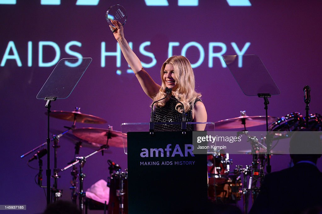 Fergie receives a Piaget Award of Inspiration during the 3rd annual amfAR Inspiration Gala New York at The New York Public Library - Stephen A. Schwarzman Building on June 7, 2012 in New York City.