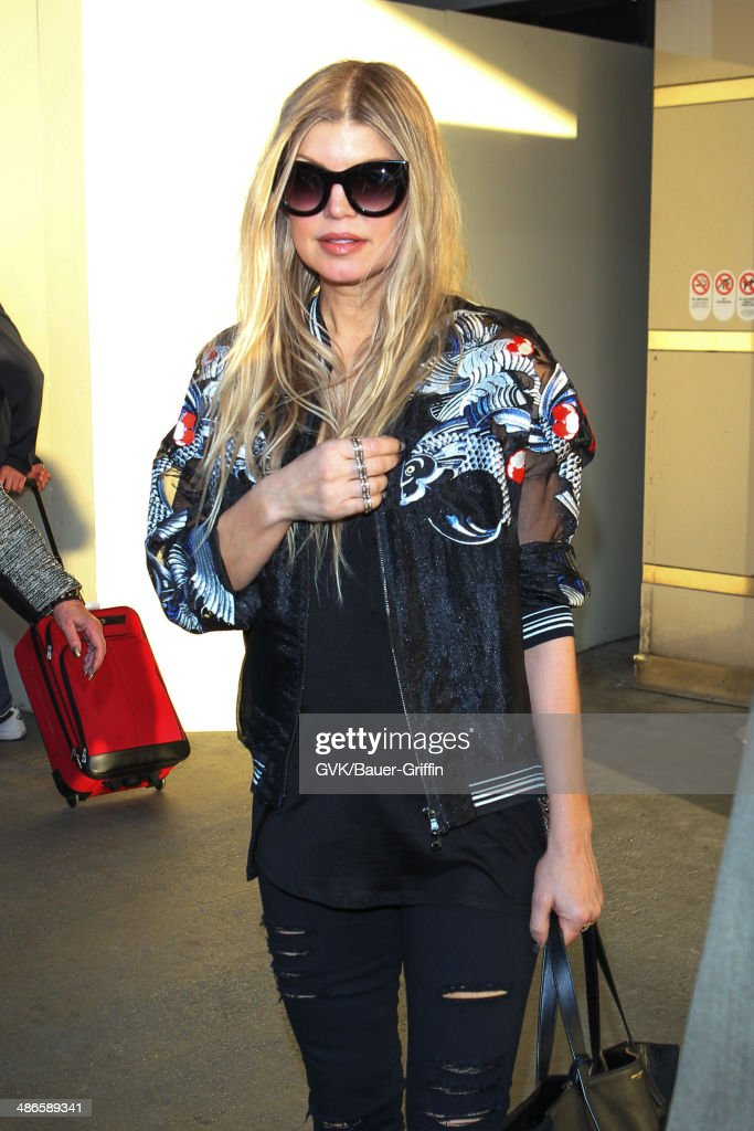 Fergie seen at LAX on April 24, 2014 in Los Angeles, California.