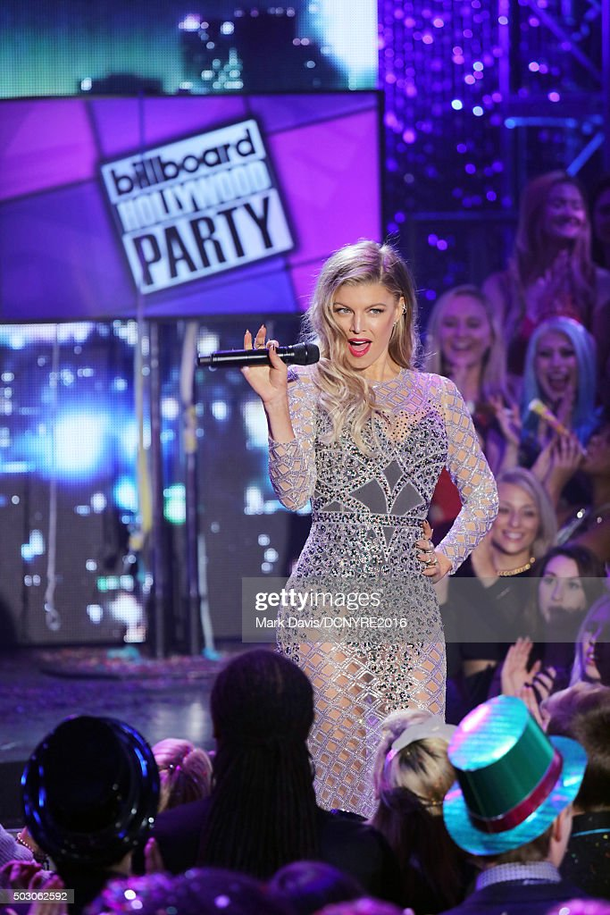 Fergie speaks onstage at Dick Clark's New Year's Rockin' Eve with Ryan Seacrest 2016 on December 31, 2015 in Los Angeles, CA.