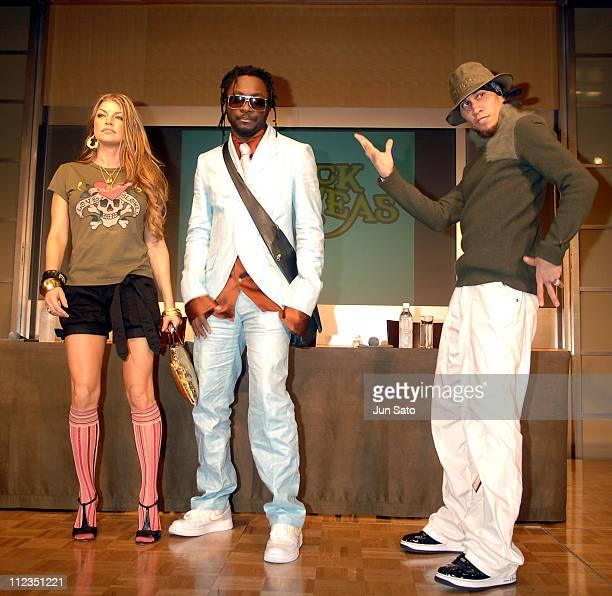 Fergie william and Taboo of Black Eyed Peas during Black Eyed Peas Press Conference for Their New Album 'Monkey Business' September 16 2005 at Grand...