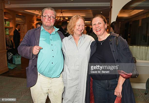 Fergus Henderson Margot Henderson and Angela Hartnett attend the launch of 'Fortnum Mason The Cook Book' by Tom Parker Bowles at Fortnum Mason on...