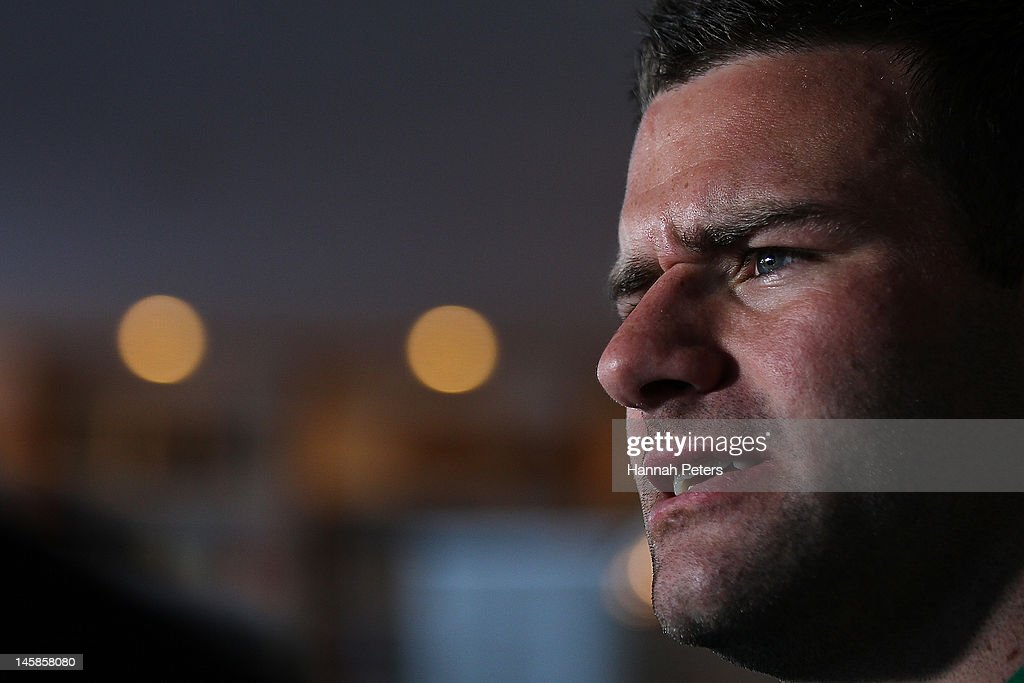 Fergus McFadden speaks to the media during the Ireland rugby team announcement at the Spencer on Byron on June 7, 2012 in Auckland, New Zealand.