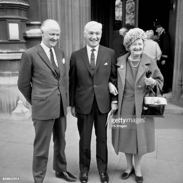 Fergus Montgomery recently elected Conservative MP for Brierley Hill Staffordshire arriving at the House of Commons to take his seat He is pictured...
