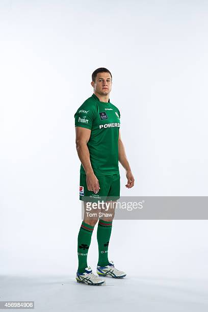 Fergus Mulchrone of London Irish poses for a picture during the BT PhotoShoot at Sunbury Training Ground on August 27 2014 in Sunbury England
