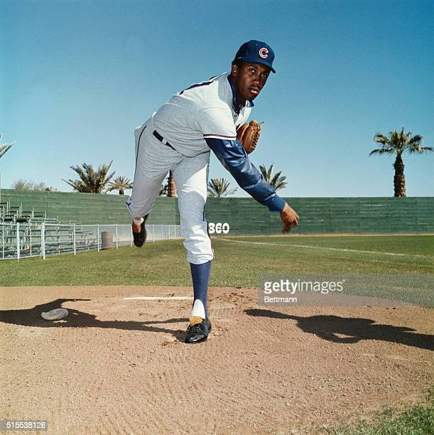Ferguson Jenkins of the Chicago Cubs at Spring Training camp