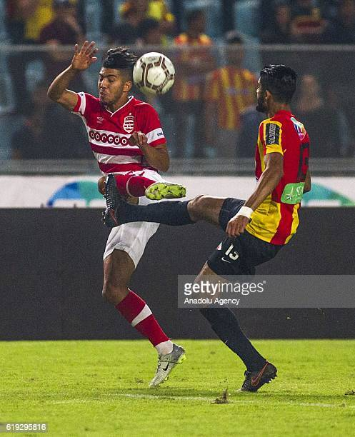 Ferjani Sassi of Esperance Sportive in action during the Tunisian Professional League 1 football match between Esperance Sportive and Club Africain...