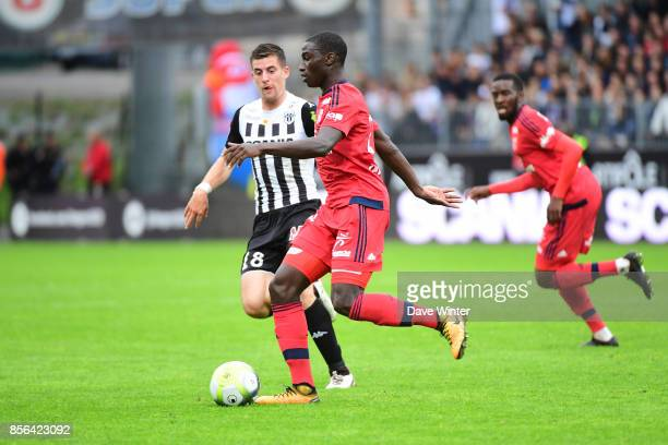 Ferland Mendy of Lyon during the Ligue 1 match between Angers SCO and Olympique Lyonnais at Stade Raymond Kopa on October 1 2017 in Angers France