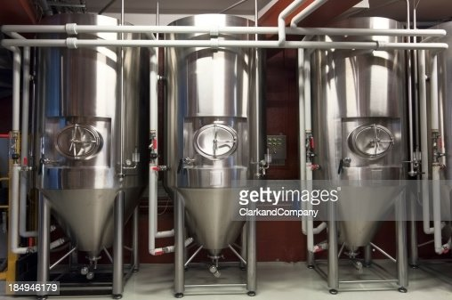 Fermentation Tanks In a Micro Brewery