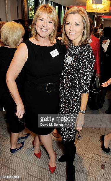 Fern Britton and Mary Nightingale attend the 58th Women of the Year lunch at the InterContinental Park Lane Hotel on October 14 2013 in London England