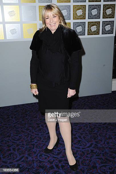 Fern Britton attends the TRIC Awards 2013 at The Grosvenor House Hotel on March 12 2013 in London England