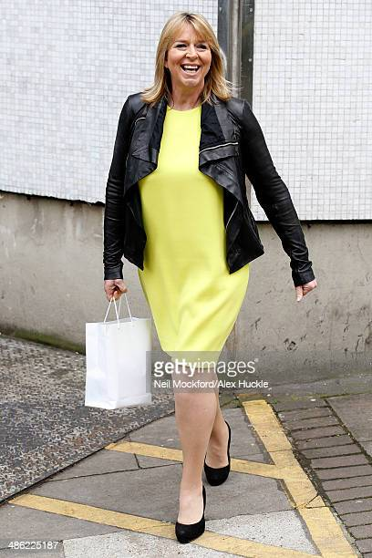 Fern Britton sighted leaving the ITV Studios after an appearance on 'Loose Women' April 23 2014 in London England