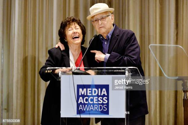 Fern Field and Norman Lear attend the Media Access Awards 2017 at The Four Seasons on November 17 2017 in Beverly Hills California