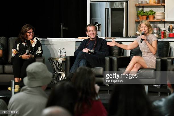 Fern Malis founder of New York Fashoin Week Chef Michael White of Ai Fiori and Samantha Brown host from PBS and the Travel Channel speak on the...