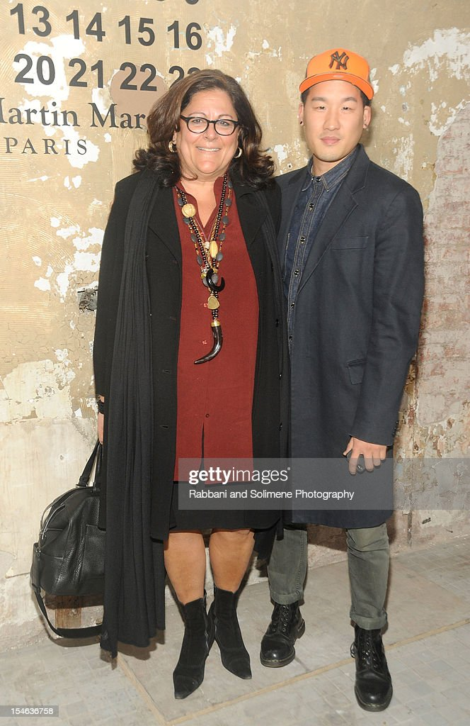 <a gi-track='captionPersonalityLinkClicked' href=/galleries/search?phrase=Fern+Mallis&family=editorial&specificpeople=201774 ng-click='$event.stopPropagation()'>Fern Mallis</a> and fashion designer Richard Chai attends the Maison Martin Margiela with H&M global launch event at 5 Beekman on October 23, 2012 in New York City.