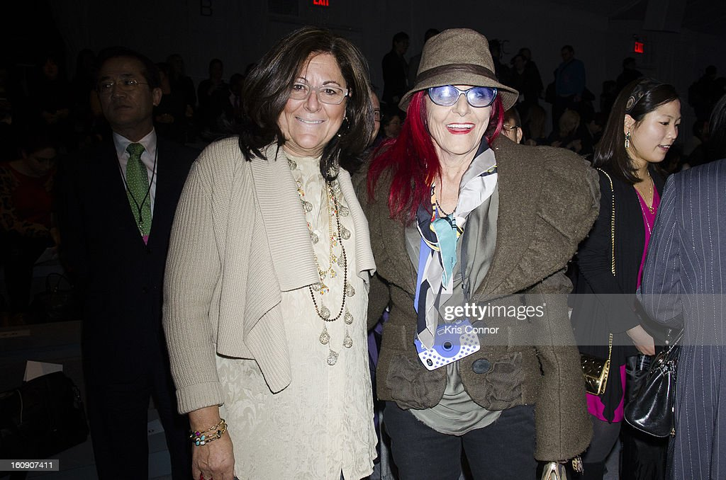 <a gi-track='captionPersonalityLinkClicked' href=/galleries/search?phrase=Fern+Mallis&family=editorial&specificpeople=201774 ng-click='$event.stopPropagation()'>Fern Mallis</a> and Patricia Field attends the Concept Korea Fall 2013 Mercedes-Benz Fashion Show at The Stage at Lincoln Center on February 7, 2013 in New York City.