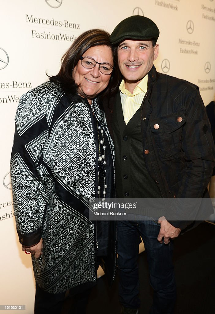 Fern Mallis and stylist Phillip Bloch and Fern Mallis attend the Mercedes-Benz Star Lounge during Mercedes-Benz Fashion Week Fall 2013 at Lincoln Center on February 13, 2013 in New York City.