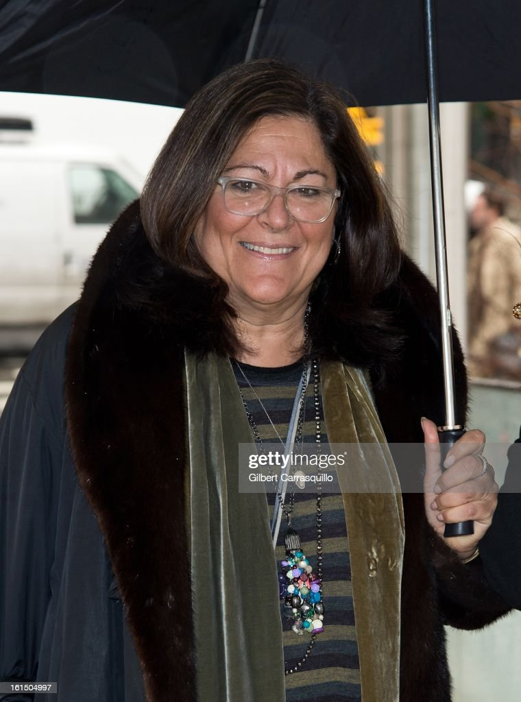 <a gi-track='captionPersonalityLinkClicked' href=/galleries/search?phrase=Fern+Mallis&family=editorial&specificpeople=201774 ng-click='$event.stopPropagation()'>Fern Mallis</a> attends Fall 2013 Mercedes-Benz Fashion Show at The Theater at Lincoln Center on February 11, 2013 in New York City.