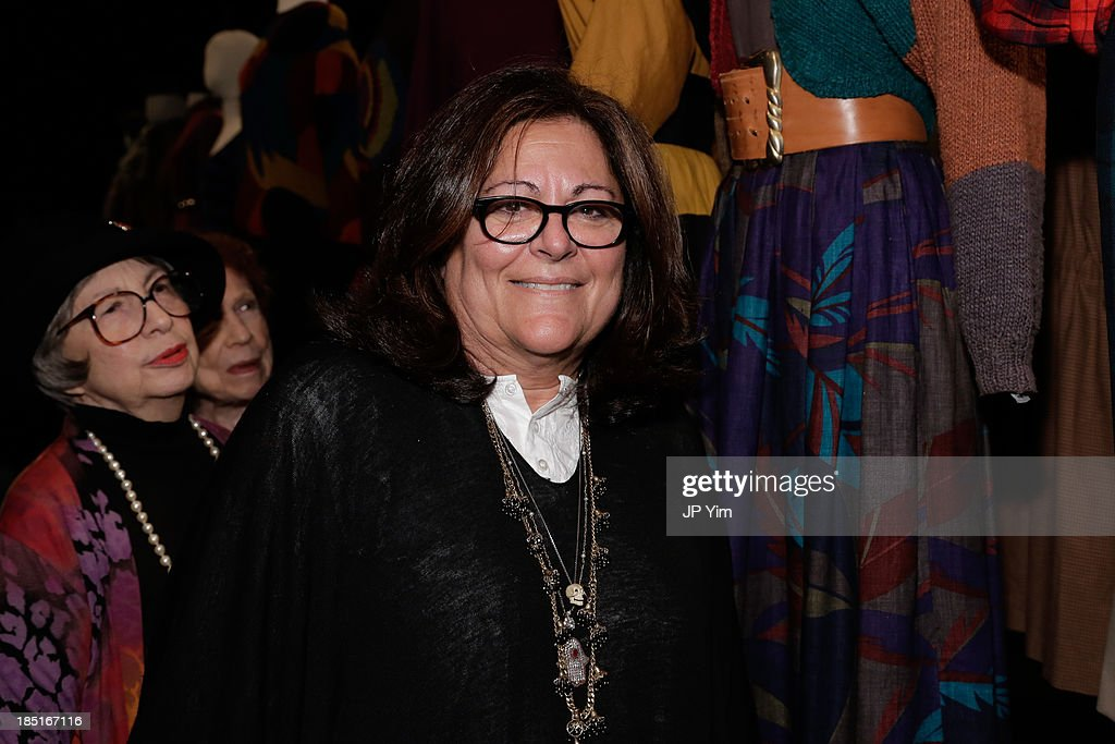 <a gi-track='captionPersonalityLinkClicked' href=/galleries/search?phrase=Fern+Mallis&family=editorial&specificpeople=201774 ng-click='$event.stopPropagation()'>Fern Mallis</a> attends 'Perry Ellis: An American Original' By Jeffrey Banks book launch hosted by the CFDA, Perry Ellis and Parsons the New School for Design on October 17, 2013 in New York City.