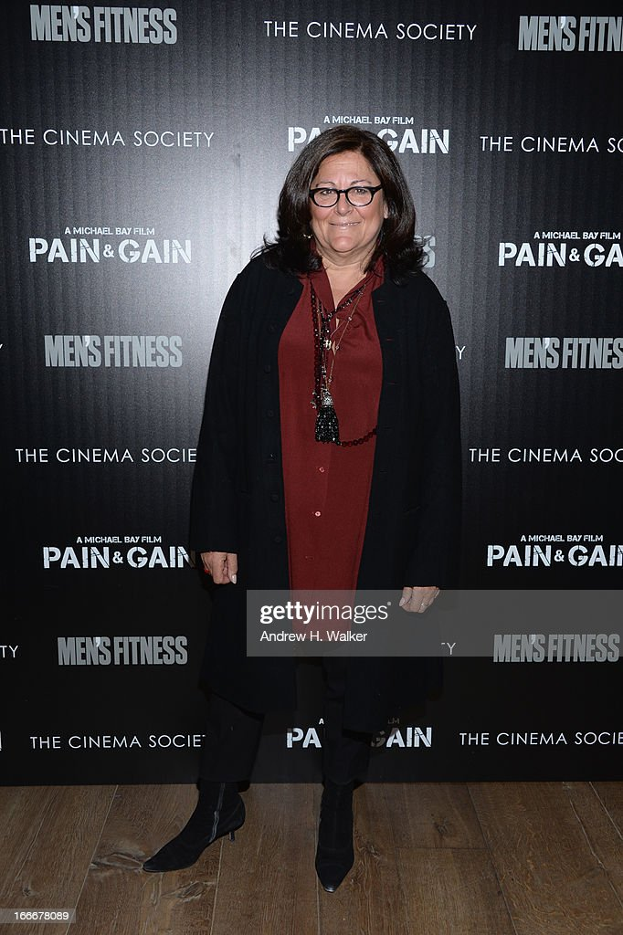 Fern Mallis attends the Cinema Society screening of 'Pain And Gain' at Crosby Street Hotel on April 15, 2013 in New York City.