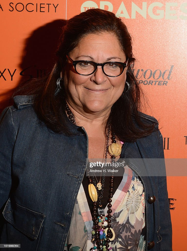 <a gi-track='captionPersonalityLinkClicked' href=/galleries/search?phrase=Fern+Mallis&family=editorial&specificpeople=201774 ng-click='$event.stopPropagation()'>Fern Mallis</a> attends The Cinema Society with The Hollywood Reporter & Samsung Galaxy S III host a screening of 'The Oranges' at Tribeca Screening Room on September 14, 2012 in New York City.