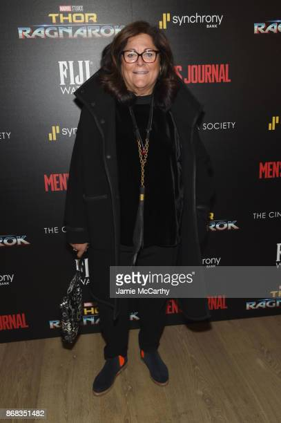 Fern Mallis attends The Cinema Society's Screening Of Marvel Studios' 'Thor Ragnarok' at the Whitby Hotel on October 30 2017 in New York City