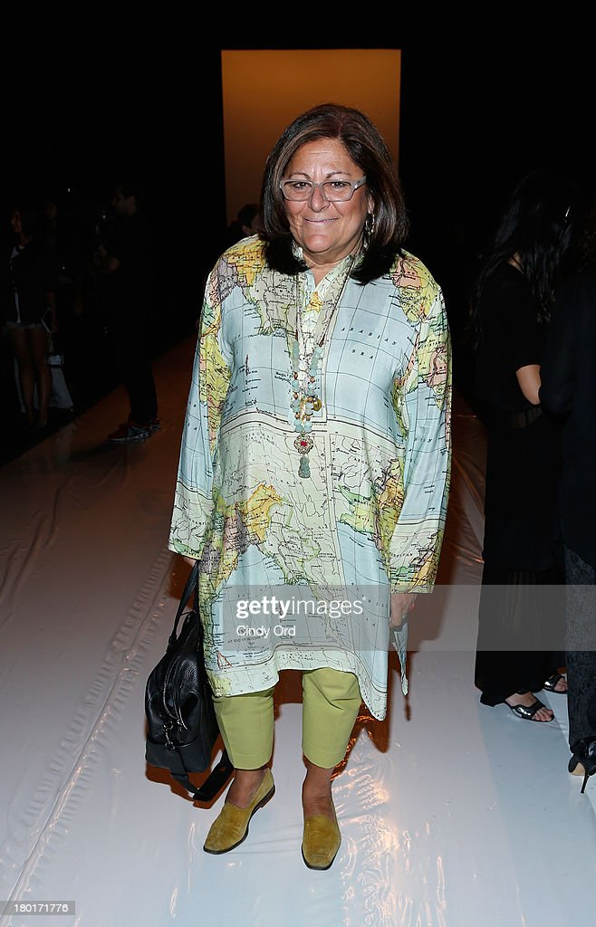 <a gi-track='captionPersonalityLinkClicked' href=/galleries/search?phrase=Fern+Mallis&family=editorial&specificpeople=201774 ng-click='$event.stopPropagation()'>Fern Mallis</a> attends the Kaufmanfranco fashion show during Mercedes-Benz Fashion Week Spring 2014 at The Theatre at Lincoln Center on September 9, 2013 in New York City.