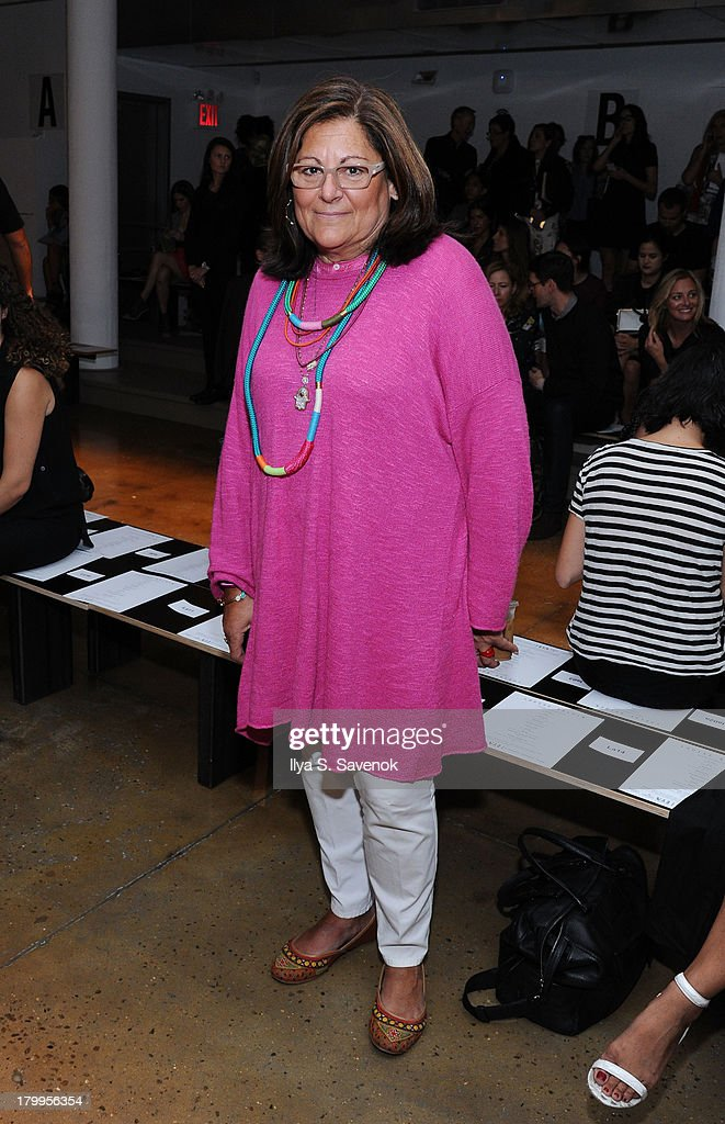 <a gi-track='captionPersonalityLinkClicked' href=/galleries/search?phrase=Fern+Mallis&family=editorial&specificpeople=201774 ng-click='$event.stopPropagation()'>Fern Mallis</a> attends the Louise Goldin fashion show during MADE Fashion Week Spring 2014 at Milk Studios on September 7, 2013 in New York City.