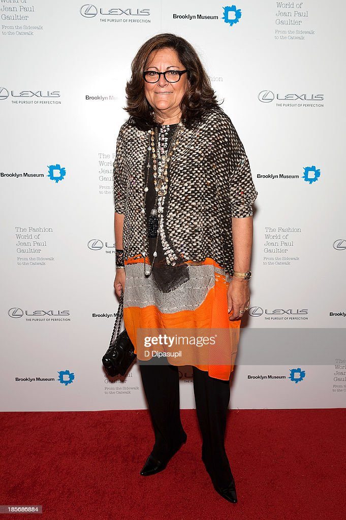 <a gi-track='captionPersonalityLinkClicked' href=/galleries/search?phrase=Fern+Mallis&family=editorial&specificpeople=201774 ng-click='$event.stopPropagation()'>Fern Mallis</a> attends the VIP reception and viewing for The Fashion World of Jean Paul Gaultier: From the Sidewalk to the Catwalk at the Brooklyn Museum on October 23, 2013 in the Brooklyn borough of New York City.