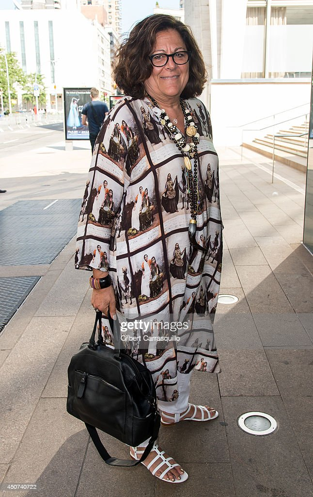 Fern Mallis is seen around Alice Tully Hall, Lincoln Cente on June 16, 2014 in New York City.