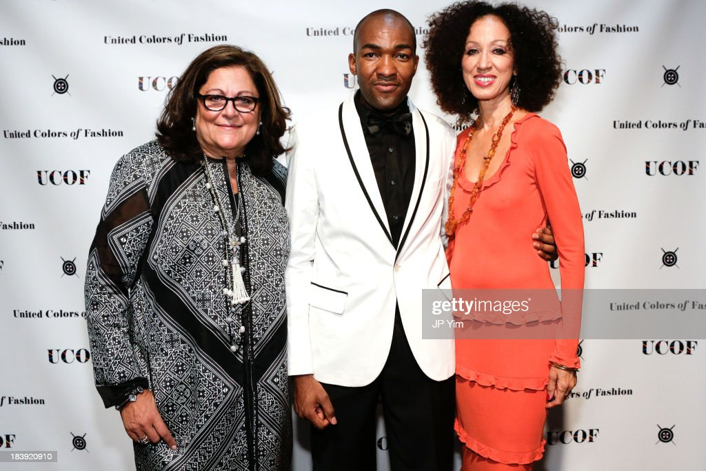 <a gi-track='captionPersonalityLinkClicked' href=/galleries/search?phrase=Fern+Mallis&family=editorial&specificpeople=201774 ng-click='$event.stopPropagation()'>Fern Mallis</a>, United Colors of Fashion President Ciano Clerjuste and model <a gi-track='captionPersonalityLinkClicked' href=/galleries/search?phrase=Pat+Cleveland+-+Model&family=editorial&specificpeople=592076 ng-click='$event.stopPropagation()'>Pat Cleveland</a> attend the 3rd Annual United Colors Of Fashion Gala at Lexington Avenue Armory on October 9, 2013 in New York City.