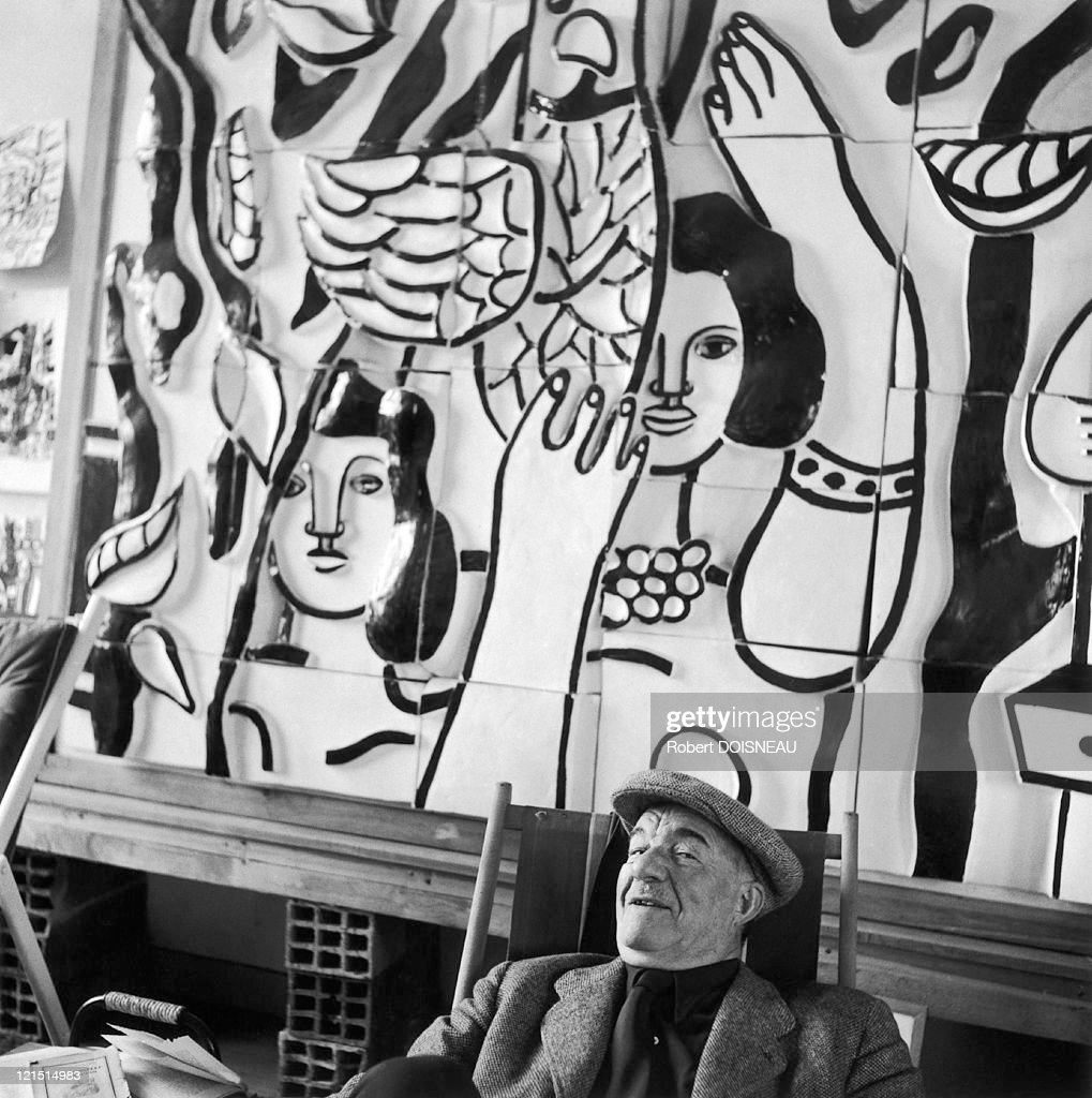Fernand Leger At His Workshop In Gif-Sur Yvette, 1954