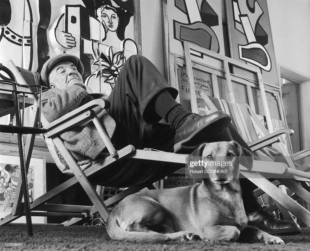 <a gi-track='captionPersonalityLinkClicked' href=/galleries/search?phrase=Fernand+Leger&family=editorial&specificpeople=954169 ng-click='$event.stopPropagation()'>Fernand Leger</a> In His Studio In Gif-Sur Yvette, 1954