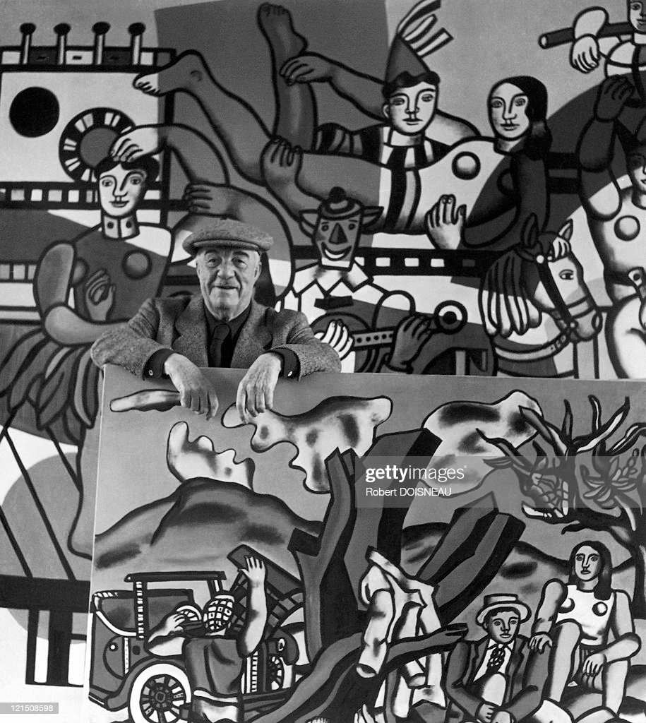 Fernand Leger In His Studio In Gif-Sur Yvette, 1954