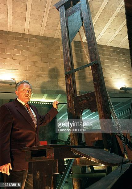 Fernand Meyssonier former French executioner in Fontaine De Vaucluse France in 1993 At the Justice and punishment museum