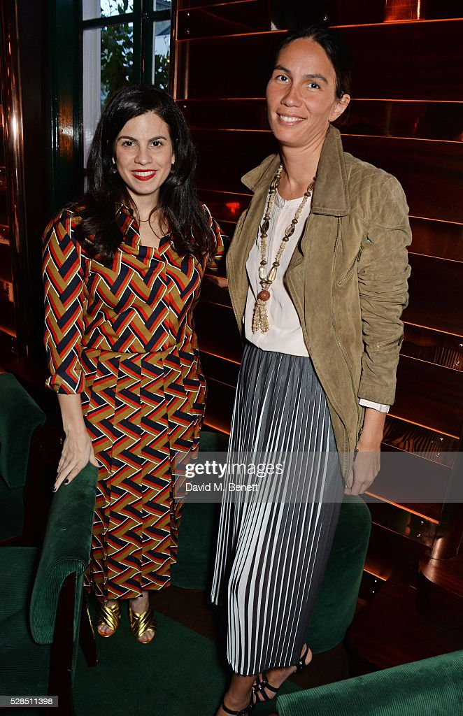 Fernanda Abdalla (L) and Nancy Lichterman attend a private dinner hosted by Rodial founder Maria Hatzistefanis & Bay Garnett at Casa Cruz on May 5, 2016 in London, England.
