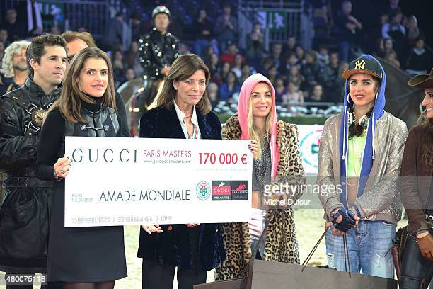 Fernanda Ameeuw Princess Caroline of Hanover Edwina Tops Alexander and Charlotte Casiraghi attend the Gucci Paris Master Day 3 on December 6 2014 in...