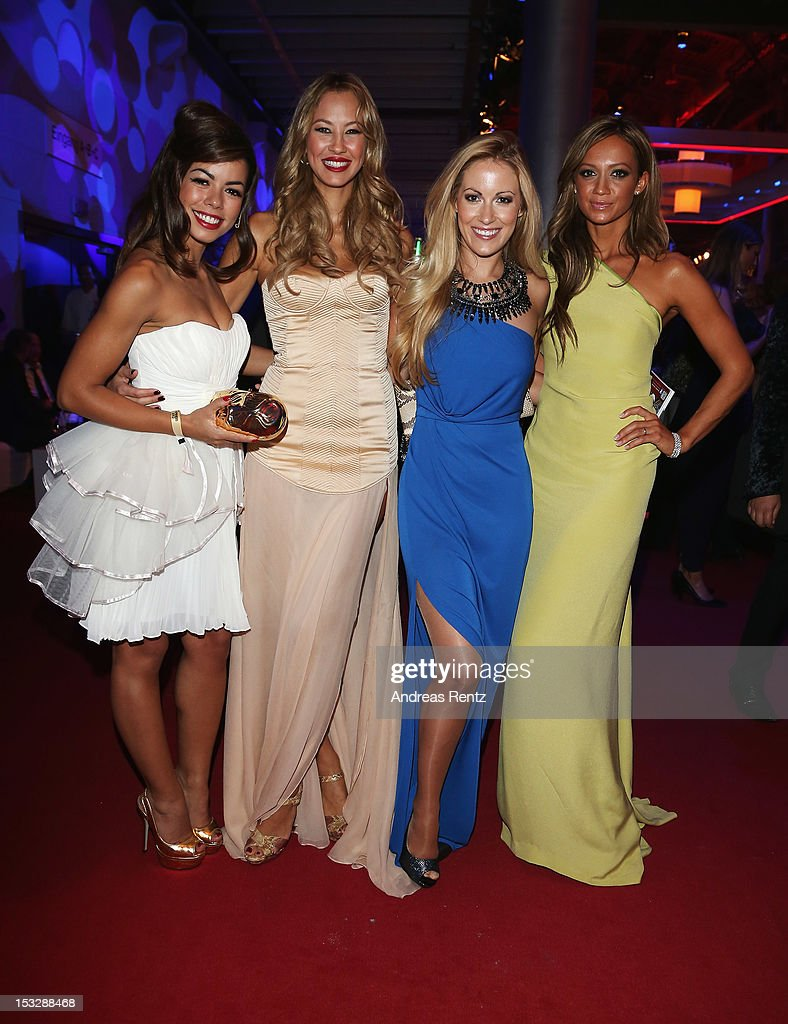 Fernanda Brandao, Alessandra Pocher, Andrea Kaiser and Kate Abdo attend the German TV Award party 2012 (Deutscher Fernsehpreis 2012) at Coloneum on October 2, 2012 in Cologne, Germany.