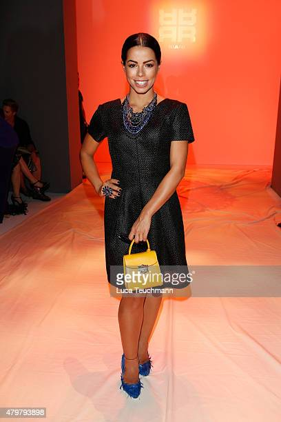 Fernanda Brandao attends the Riani show during the MercedesBenz Fashion Week Berlin Spring/Summer 2016 at Brandenburg Gate on July 7 2015 in Berlin...