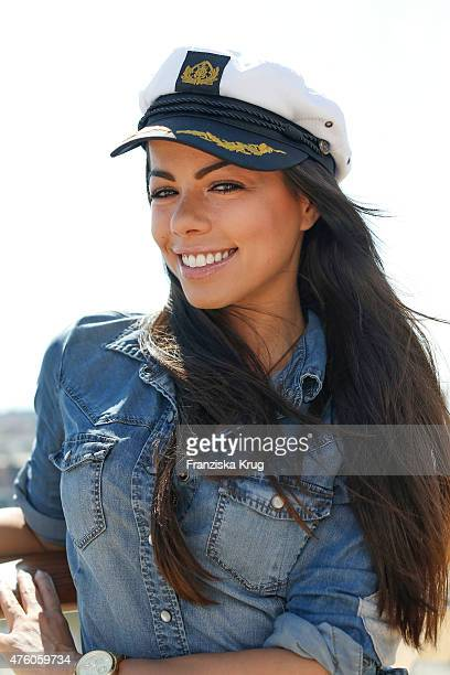 Fernanda Brandao during the naming ceremony of the cruise ship 'Mein Schiff 4' on June 5 2015 in Kiel Germany