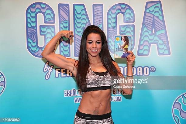 Fernanda Brandao poses during the presentation of her fitness program GINGA at The Charles hotel on April 21 2015 in Munich Germany
