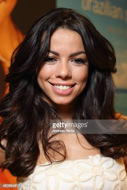 Fernanda Brandao poses for a portrait during a photocall to present her new fragrance 'Brazilian Summer' on April 4 2014 in Cologne Germany
