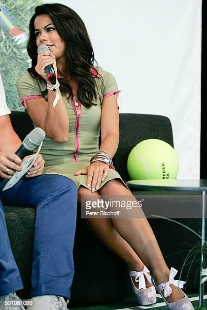 Fernanda Brandao ShowTalk bei 19 'Gerry Weber Open'TennisTurnier Halle NordrheinWestfalen Deutschland Europa Bühne Auftritt Mikro Interview...