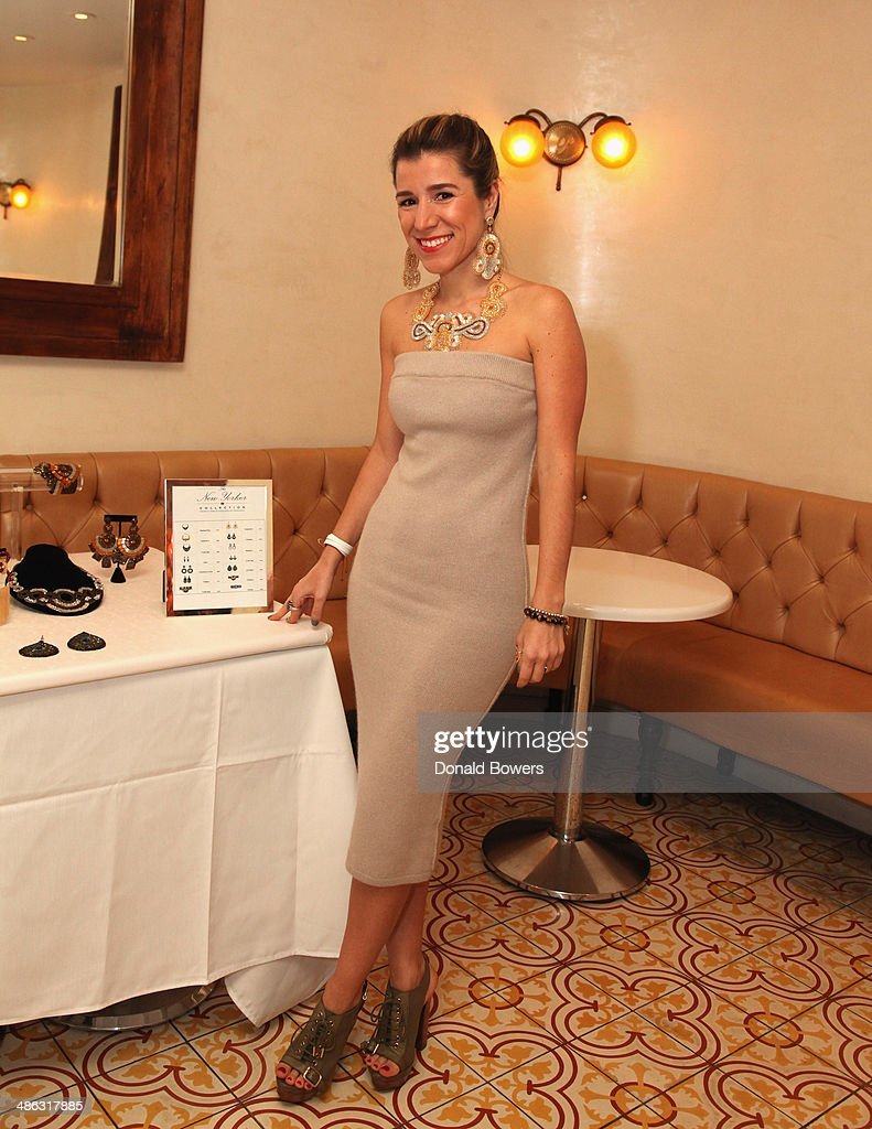 Fernanda Capobianco attends Fernanda Capobianco and Amanda Hearst's reception to unveil cruelty-free accessory line, The New Yorker Collection at FP Patisserie on April 23, 2014 in New York City.