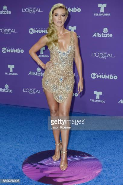 Fernanda Castillo arrives at Telemundo's 2017 'Premios Tu Mundo' at American Airlines Arena on August 24 2017 in Miami Florida